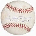 Autographs:Baseballs, 2004 Johnny Damon Game Used & Single Signed Baseball. ...