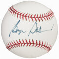 Autographs:Baseballs, George Steinbrenner Single Signed Baseball....