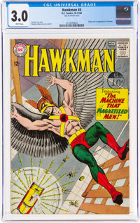 Hawkman #4 (DC, 1964) CGC GD/VG 3.0 White pages