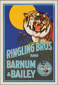 """Movie Posters:Miscellaneous, Ringling Bros. and Barnum & Bailey Circus (1942). Rolled, Very Fine. Circus Poster (19.25"""" X 28""""). Miscellaneous.. ..."""