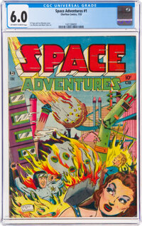 Space Adventures #1 (Charlton, 1952) CGC FN 6.0 Off-white to white pages
