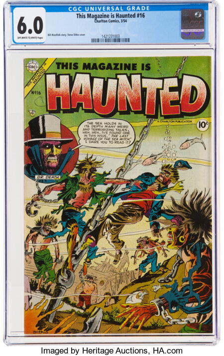 This Magazine Is Haunted #16 (Charlton, 1954) CGC FN 6.0 Off-white to white pages....