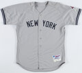 Baseball Collectibles:Uniforms, 2003 Jorge Posada New York Yankees Team Issued Road Jersey. ...