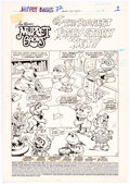 Original Comic Art:Story Page, Marie Severin and Jacqueline Roettcher Muppet Babies #22 Story Page Original Art Group of 7 (Star/Marvel, 1988).... (Total: 7 Original Art)