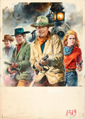 Movie Posters:Western, The Train Robbers by Renato Casaro (Warner Bros., 1973). Very Fine. Signed Original Italian Mixed Media Poster Maquet...