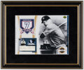 Autographs:Index Cards, Mickey Mantle Signed Cut Display - Upper Deck...