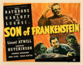"Movie Posters:Horror, Son of Frankenstein (Universal, 1939). Fine+ on Paper. Half Sheet (22"" X 28"") Style B.. ..."