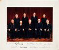 Autographs:Statesmen, Burger Court Photograph Signed by All Nine Supreme Court Justices. ...
