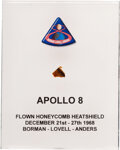 Explorers:Space Exploration, Apollo 8 Flown Heat Shield Fragment in Acrylic Display.