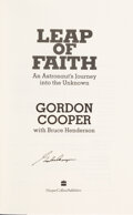 Explorers:Space Exploration, Gordon Cooper Signed Book: Leap of Faith. ...