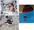 Explorers:Space Exploration, Jack Lousma Signed Color Photos (Three). ...