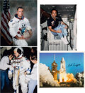 Explorers:Space Exploration, Bob Crippen: Group of Four Signed Color Photos. A...