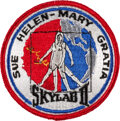 """Explorers:Space Exploration, Skylab II (SL-3) Original Embroidered """"Wives Patch"""" Embroidered Mission Insignia, Unflown, Originally from the Collection of S..."""