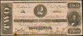 Confederate Notes:1862 Issues, Fully Framed T54 $2 1862 About Uncirculated.. ...
