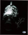 Explorers:Space Exploration, James Lovell Signed Apollo 13 Damaged Service Module Photo...