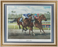 1987 Breeders' Cup Finish Print