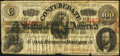 Confederate Notes:1863 Issues, T56 $100 1863 Fine-Very Fine.. ...