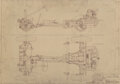 "Prints & Multiples, Porsche Blueprint for Jagdwagen ""Hunting Buggy"" Chassis, circa 1950. 23-1/2 x 33-1/4 inches (59.7 x 84.5 cm). ..."