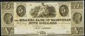 Obsoletes By State:Michigan, Ann Arbor, MI- Millers Bank of Washtenaw $5 18__ Remainder Choice About Uncirculated.. ...