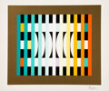 Prints & Multiples, Yaacov Agam (b. 1928). Country Rhythm (three works), 1980. Screenprints in colors on wove paper. 10-5/8 x 12-3/4 inches ... (Total: 3 Items)