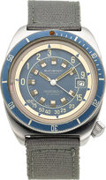 Timepieces:Wristwatch, Squale For Bucherer, Profundus Depthometer Stainless Steel Diver's Watch, circa 1970's. ...