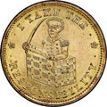 (1833) I Take the Responsibility, Low-171, HT-70A, W-10-320a, R.3, MS66 NGC. Gilt copper, plain edge. These dies are kno...