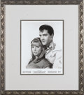 "Music Memorabilia:Photos, Elvis Presley Vintage ""Tickle Me"" Promo Photo. A vintage b&w 8""x 10"" promo photo featuring Elvis with Julie Adams in the 19..."