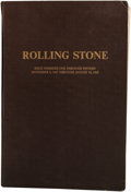 Music Memorabilia:Memorabilia, Rolling Stone Magazine #1-15 Bound Volume. A collection of the veryfirst 15 issues of the influential Rock magazine that he... (Total:1 Item)