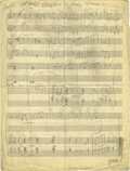"Music Memorabilia:Sheet Music, Duke Ellington ""Got A Right To Sing The Blues"" Handwritten Score.This jazz and blues standard, originally composed by Harol..."