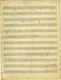 "Music Memorabilia:Sheet Music, Duke Ellington ""You're the Top"" Handwritten Score. Duke Ellington wrote and arranged his songs with the unique talents of hi..."