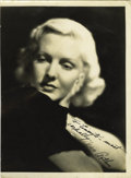 Movie/TV Memorabilia:Autographs and Signed Items, Jean Arthur Autographed Portrait. Jean Arthur was an irreplaceableactress, delightful in comedy, powerful in drama and unfo...