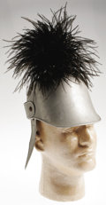 "Movie/TV Memorabilia:Costumes, Spanky McFarland Costume Helmet From ""Our Gang."" A child's-sizedplumed Roman-style helmet worn by George ""Spanky"" McFarland..."