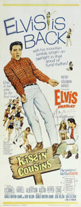 "Music Memorabilia:Posters, Elvis Presley ""Kissin' Cousins"" Movie Poster. A 14"" x 36"" posterfor the 1964 musical comedy. In Very Fine condition with mi...(Total: 3 )"