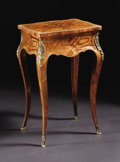 Furniture, A French Nineteenth Century Louis XV Style Marquetry Lift-Top Ladies Vanity Table. A. Tahan, Paris, France. Late Nineteent...