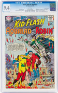 Silver Age (1956-1969):Superhero, The Brave and the Bold #54 Kid Flash, Aqualad, and Robin - Rocky Mountain Pedigree (DC, 1964) CGC NM 9.4 White pages....
