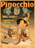 Movie Posters:Animation, Pinocchio (RKO, 1946). Folded, Fine+. First Releas...