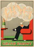 """Movie Posters:Miscellaneous, Grand Parisy French Champagne (c. 1932). Very Fine+. Poster (10.5"""" X 14.5) J. Stall Artwork. . ..."""