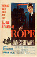 """Movie Posters:Hitchcock, Rope (Warner Bros., 1948). Folded, Fine+. One Sheet (27"""" X 41"""").. ..."""