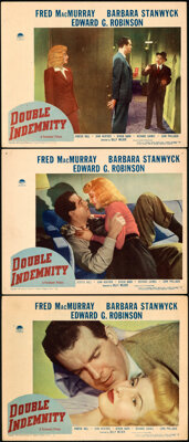 "Double Indemnity (Paramount, 1944). Very Fine. Lobby Cards (3) (11"" X 14""). ... (Total: 3 Items)"