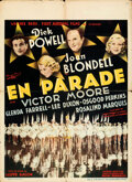 "Movie Posters:Musical, Gold Diggers of 1937 (Warner Bros.-First National, 1937). Folded, Fine/Very Fine. Pre-War Belgian (24"" X 33"").. ..."