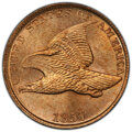 Flying Eagle Cents, 1857 1C MS64 PCGS. CAC....