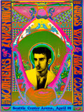 Music Memorabilia:Posters, Frank Zappa/Mothers, Alice Cooper 1969 Seattle Psychedelic Concert Poster....