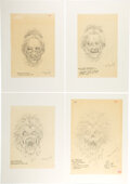 Movie/TV Memorabilia:Original Art, Ghostbusters Library Ghost Concept Art by Bernie Wrightson (4). ...