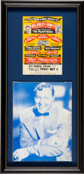 Music Memorabilia:Autographs and Signed Items, Bill Haley Signed Picture Framed and Matted With Vintage Handbill....
