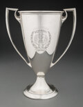 Silver & Vertu, A Gorham Mfg. Co. Silver Two-Handled Trophy Cup, Providence, Rhode Island, 1915. Marks: (lion-anchor-G), STERLING, A9196, ...