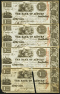Obsoletes By State:Michigan, Clinton Salt Works, MI- Clinton Salt Works Company/Bank of Auburn $1.50 May 1, 1838, Four Examples Very Fine or Better.... (Total: 4 notes)