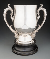 A Whiting Mfg. Co. Silver Two-Handled Cup, New York, circa 1900 Marks: (W-griffin), STERLING, 4986, 11-1/2 PINTS, 925/10...