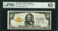 Small Size:Gold Certificates, Fr. 2404 $50 1928 Gold Certificate. PMG Gem Uncirculated 65 EPQ.. ...