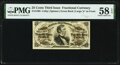 Fractional Currency:Third Issue, Fr. 1296 25¢ Third Issue PMG Choice About Unc 58 EPQ....