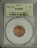 Lincoln Cents, 1916-D 1C MS65 Red and Brown PCGS....